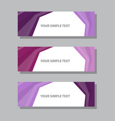 Abstract corporate business banner template vector
