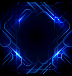 Abstract lines and blue lights background vector image