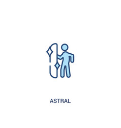 Astral concept 2 colored icon simple line element vector