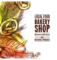 Bakery Hand Drawn vector image