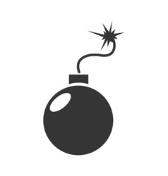 bomb explosive dangerous icon graphic vector image