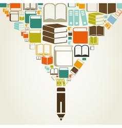 Book a pencil vector