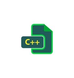 C Icon vector image