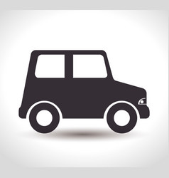 car baby toy isolated icon vector image