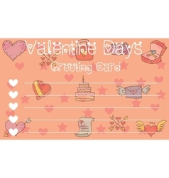 Card with cute element valentine vector
