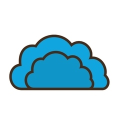 cartoon blue cloud data communication vector image