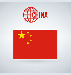 china flag isolated on modern background with vector image
