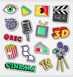 cinema and movie doodle film entertainment vector image