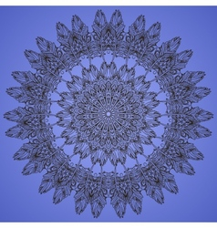 Circular pattern ornament vector