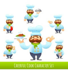 Cook Cartoon Characters vector