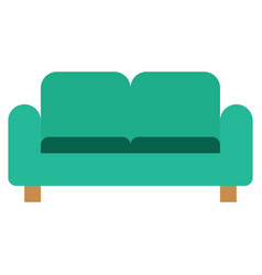 couch icon with flat style eps10 vector image