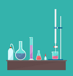 design of chemical titration equipment vector image