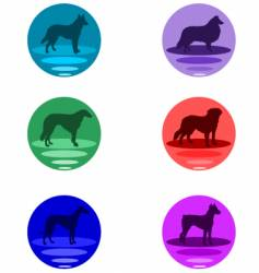 Dog buttons vector