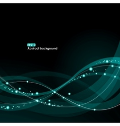 EPS10 glowing waves background vector image
