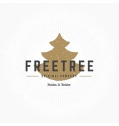 Fir Tree Hand Drawn Logo Template Design vector image