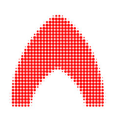Fire halftone dotted icon vector