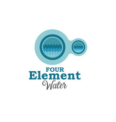 four element water vector image