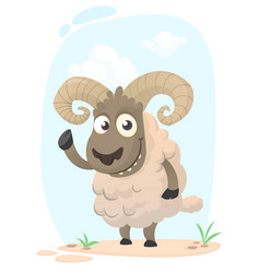 funny cartoon sheep vector image
