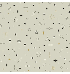 Geometric seamless pattern Gold gray and beige vector image