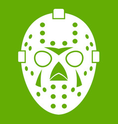 goalkeeper mask icon green vector image