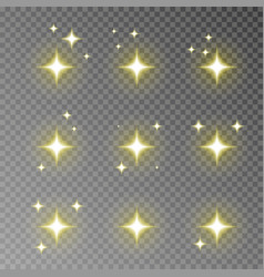 golden twinkle sparkle isolated on transpar vector image