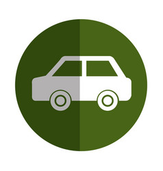 green car ecology symbol vector image