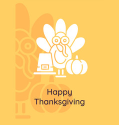 harvest celebration greeting card with glyph icon vector image