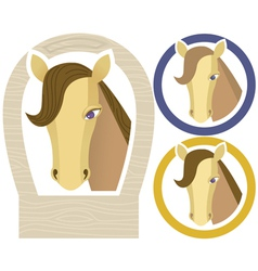 horse muzzle vector image