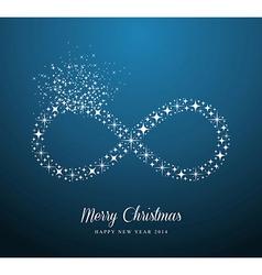 Infinite Merry Christmas and Happy New Year stars vector image