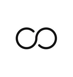 infinity icon vector image