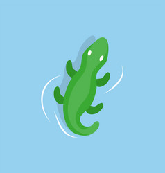 inflatable crocodile in water isolated cartoon toy vector image