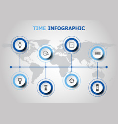 infographic design with time icons vector image