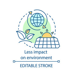 Less impact on environment concept icon vector