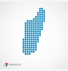 madagascar map and flag icon vector image