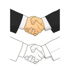 Male handshake vector