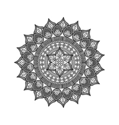 mandala india culture icon vector image