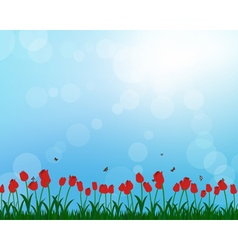 Meadow color background vector