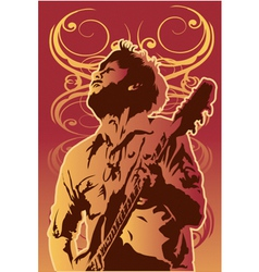 Music-MAN vector image