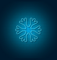 new year snowflake neon sign vector image
