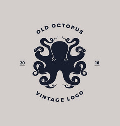 octopus silhouette logo vector image