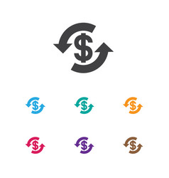 Of business symbol on money vector