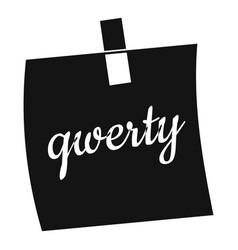 paper sheet with text qwerty icon simple style vector image