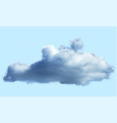 Realistic cloud over transparent background vector