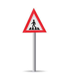 Road Sign Pedestrian Crossing vector image