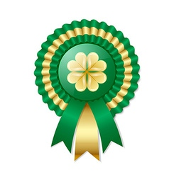 Saint Patricks Day Irish rosette vector