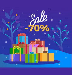 sale on winter holiday christmas promotion vector image
