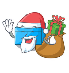 Santa with gift tissue box isolated on the mascot vector