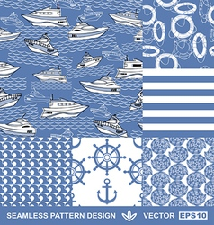 Sea backgrounds set summer maritime theme vector image
