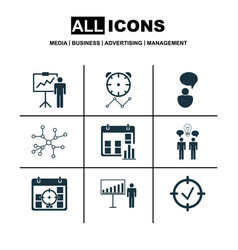 Set of 9 board icons includes special vector