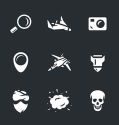 Set of military intelligence icons vector